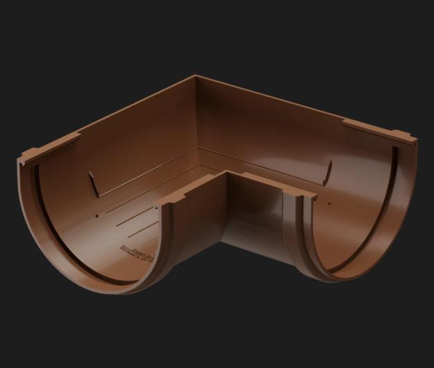 Uglovoj element 90 Docke dlya krovli seriya Premium tsvet SHokoladKashtanGr 1