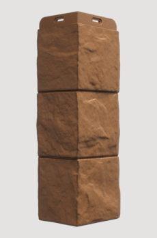 Угол фасадный Docke Fels, цвет Терракотовый