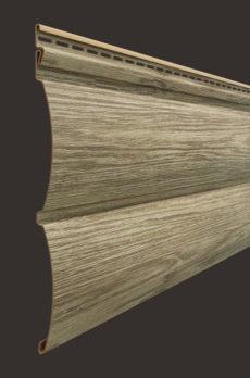 Виниловый сайдинг Docke серия Lux, Блок-хаус D4.7T, 3600*243 мм цвет Кедр