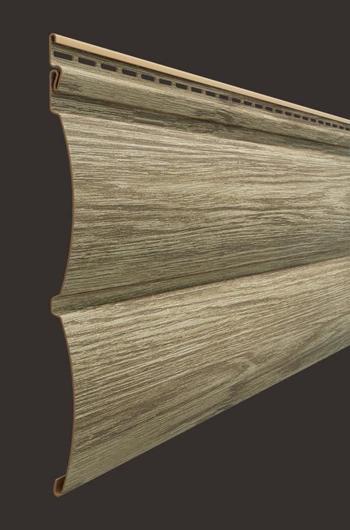 Vinilovyj sajding Docke seriya Lux Blok haus D4.7T 3600243 mm tsvet Kedr