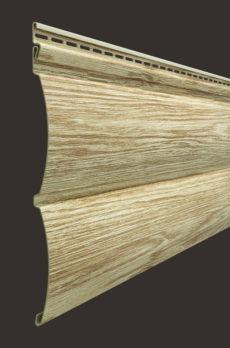 Виниловый сайдинг Docke серия Lux, Блок-хаус D4.7T, 3600*243 мм цвет Рябина