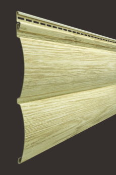 Виниловый сайдинг Docke серия Lux, Блок-хаус D4.7T, цвет Яблоня
