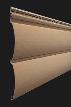 Виниловый сайдинг Docke серия Premium, Блок-хаус D4.7T, цвет Капучино