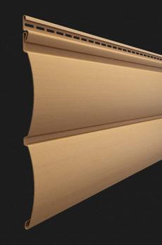 Виниловый сайдинг Docke серия Premium, Блок-хаус D4.7T, цвет Карамель