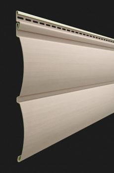 Виниловый сайдинг Docke серия Premium, Блок-хаус D4.7T, цвет Крем-брюле