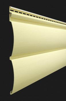 Виниловый сайдинг Docke серия Premium, Блок-хаус D4.7T, цвет Лимон