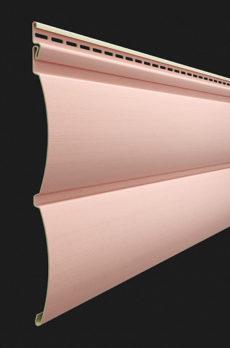 Виниловый сайдинг Docke серия Premium, Блок-хаус D4.7T, цвет Персик