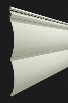 Виниловый сайдинг Docke серия Premium, Блок-хаус D4.7T, цвет Сливки