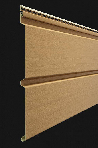 Vinilovyj sajding Docke seriya Premium Brus D6S 3600300 mm tsvet Karamel