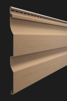Виниловый сайдинг Docke серия Premium, Корабельный брус D4.5D, Капучино