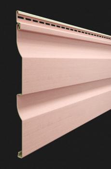 Виниловый сайдинг Docke серия Premium, Корабельный брус D4.5D, цвет Персик