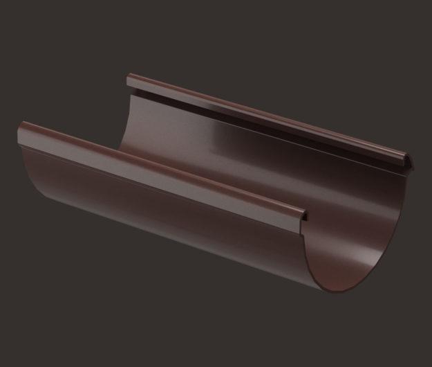 ZHelob vodostochnyj Docke dlya krovli seriya Lux 3 m tsvet SHokoladGrafit