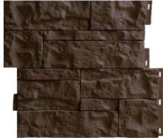 Цокольный сайдинг камень Wildstone, 410х470 мм, цвет коричневый