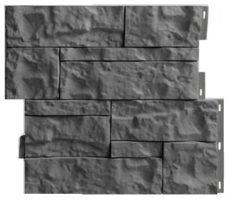 Цокольный сайдинг камень Wildstone, 410х470 мм, цвет темно-серый