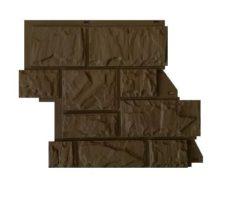 """Фасадные панели Canadaridge, фактура """"тесаный камень"""", цвет коричневый"""